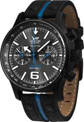 Vostok Europe Expedition North Pole Chrono Black Leather Strap 6S215954198