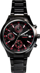 Fila Chronograph All Black Stainless Steel Bracelet 38-009-004