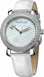 Cosmopolitan Crystal White Leather Strap CM23001