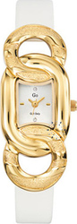 Go Ladies Gold White Leather Strap 697487