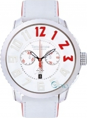 Tendence Swiss Made White Leather Strap