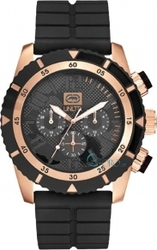 Marc Ecko The Emx Black Rubber Chronograph