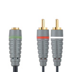 Bandridge Audio Cable 3.5mm female - 2x RCA male 1m (BAL3501)