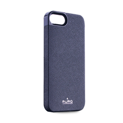 Puro Eco-leather Cover Blue (iPhone 5/5s/SE)