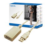 LogiLink USB 2.0 Cable USB-A male - USB-A female 5m (UA0001A)