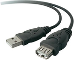 Belkin USB 2.0 Cable USB-A male - USB-A female 3m (F3U153CP3M)