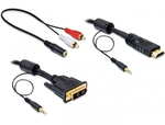 DeLock DVI-D male - HDMI male - 3.5mm male 3m (84456)