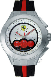 Ferrari Textures Of Racing Chronograph Black Rubber Strap 0830022