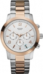 Guess Two Tone Stainless Steel Chrono W0123G1