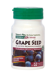 Nature's Plus Grape Seed 50mg 30 φυτικές κάψουλες