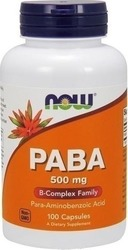Now Foods PABA 500mg 100 κάψουλες