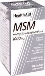 Health Aid MSM 1000mg Vegetarian 90 ταμπλέτες
