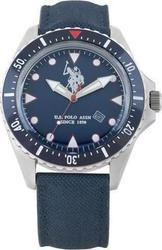 U.S. Polo Assn. Blue Dial And Leather Strap USP4201BL