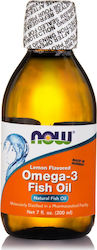 Now Foods Omega-3 Fish Oil 200ml Λεμόνι
