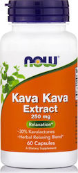 Now Foods Kava Kava Extract 250mg 60 κάψουλες