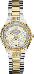 Guess Multifunction Crystals Two-tone Stainless Steel Bracelet W0111L5