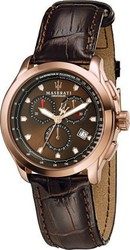 Maserati Chronograph Brown Leather Strap R8871609003