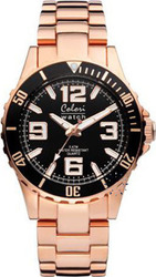 Colori Black Dial Rose Gold Metal Bracelet COL150