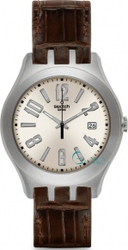 Swatch Big Desert Brown Leather Strap YTS409