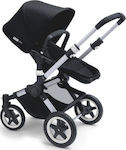 Bugaboo Buffalo Black με σκελετό Aluminium