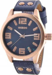 Oozoo Timepieces Xl Blue Leather Strap C5883