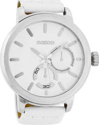 Oozoo Timepieces 50mm White Dial - Leather Strap C6120