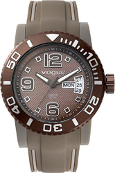Vogue Attitude Brown Rubber Strap 17102.6