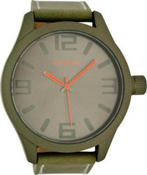 Oozoo Timepieces 50mm Khaki Case &Amp; Leather Strap C6271