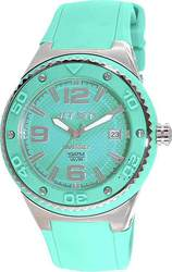 Jet Set WB30 Green Rubber Strap J53454-464