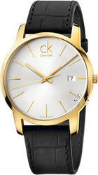 Calvin Klein City Black Leather Strap K2G2G5C6
