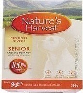 NATURE'S HARVEST SENIOR CHICKEN AND RICE 10X395GR