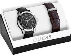 Guess Multifunction Brown & Black Leather Strap Set W0293G1