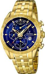Festina Gold Chrono Stainless Steel Bracelet F16656-3