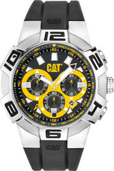 Caterpillar Sprint Black Rubber Chronograph R814321137