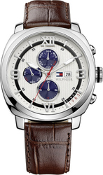 Tommy Hilfiger Fitz Multifunction Brown Leather Strap 1790968