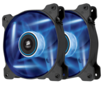 Corsair AF120 LED Blue Quiet Edition High Airflow 120mm (Twin Pack)