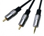D&S Audio Cable 3.5mm male - 2x RCA male 5m (APA2009)