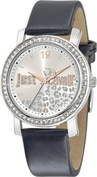 Just Cavalli Glow Crystals Black Leather Strap R7251103510