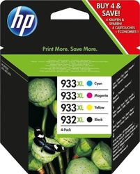 HP 932XL/933XL Cyan/Magenta/Yellow/Black Combo Pack (C2P42AE)