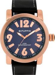 Puppis Blue Dial And Leather Strap PUM4107
