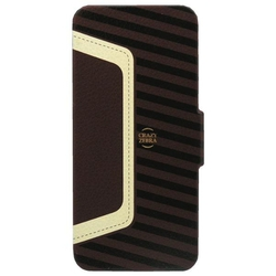 Stoneage Flip Leather Crazy Zebra Brown - Beige (iPhone 5/5s/SE)