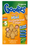 Organix Μπισκότα Mini Gingerbread Men Bag 5x25gr