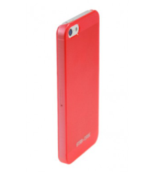 Star Case Back Cover Transparent Red (iPhone 5/5s/SE)