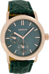 Oozoo Unisex Green Leather Strap C6527