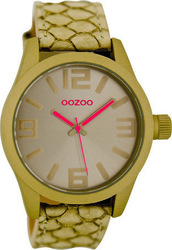 Oozoo Unisex Beige Leather Strap C6565