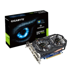 Gigabyte GeForce GTX750 Ti 2GB WindForce 2X OC (GV-N75TOC-2GI)