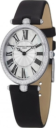 Frederique Constant Art Deco Diamonds Black Leather Strap FC-200MPW2VD6