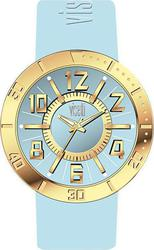 Visetti Raspberry Gold Case Light Blue Rubber Strap TI-754GLC