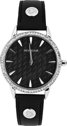 Morgan De Toi Crystals Black Leather Strap M1189B