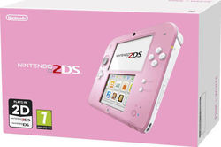 Nintendo 2DS Pink and White